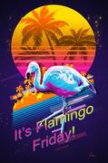 6th Mar 2020 - A Flaming Friday Flamingo!
