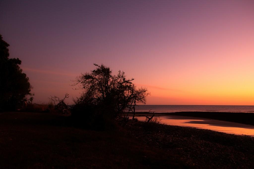 Sunrise silhouette by kiwinanna