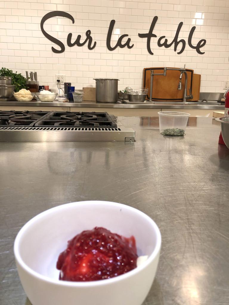 Ricotta Ice Cream with Raspberry Sauce by homeschoolmom