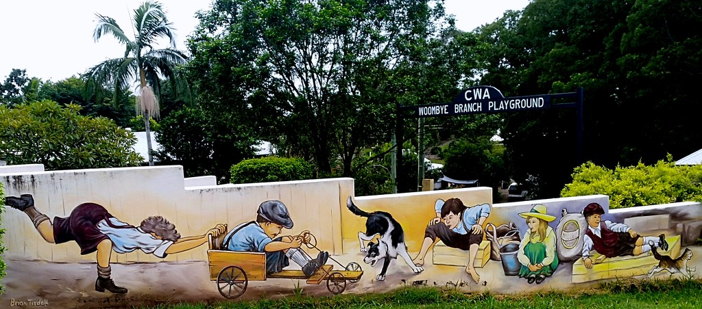 Wall at Woombye playground by 777margo