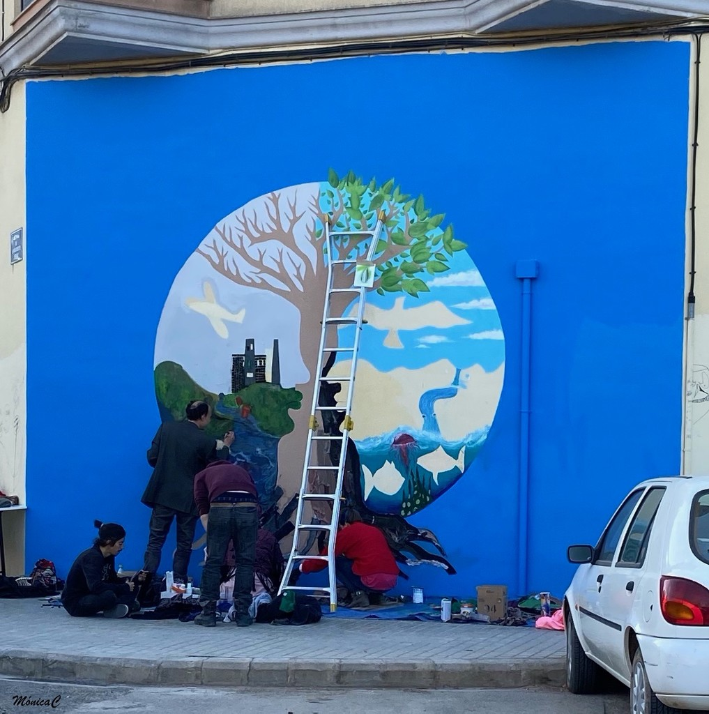 Painting a mural by monicac