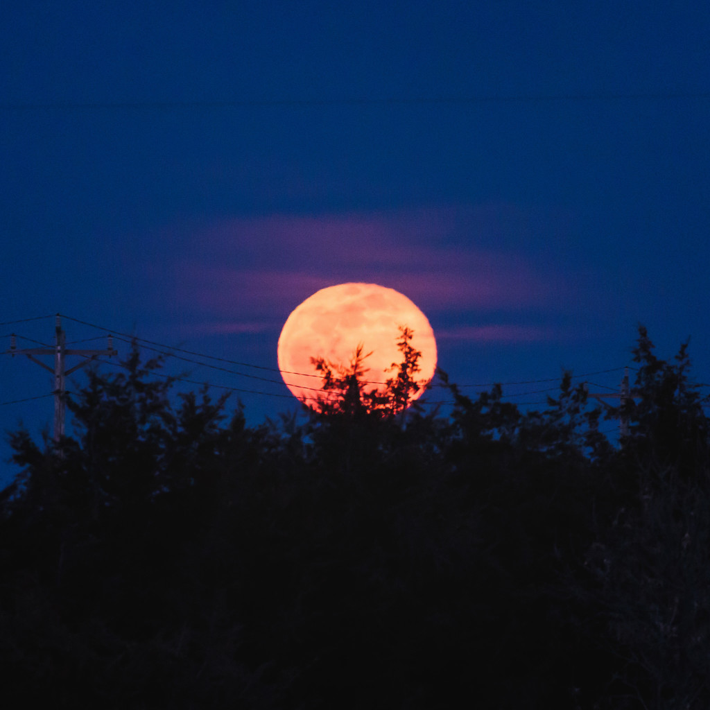 full moon rising by aecasey