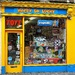 Clonakilty Main Street : the yellow and blue Toy Shop
