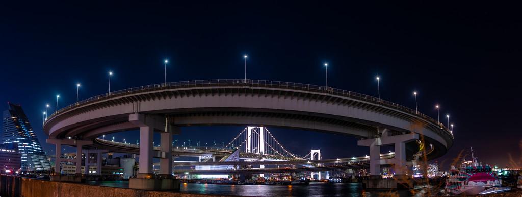 Three views of Rainbow Bridge #2 by tokyobogue