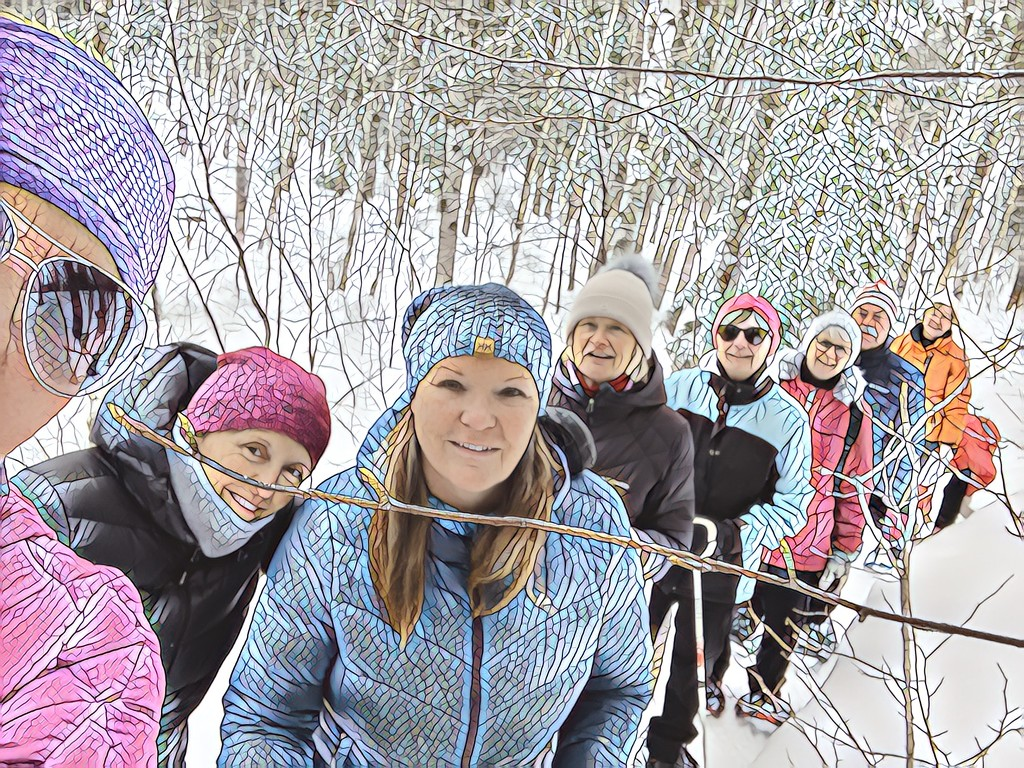 Our snowshoe group by radiogirl