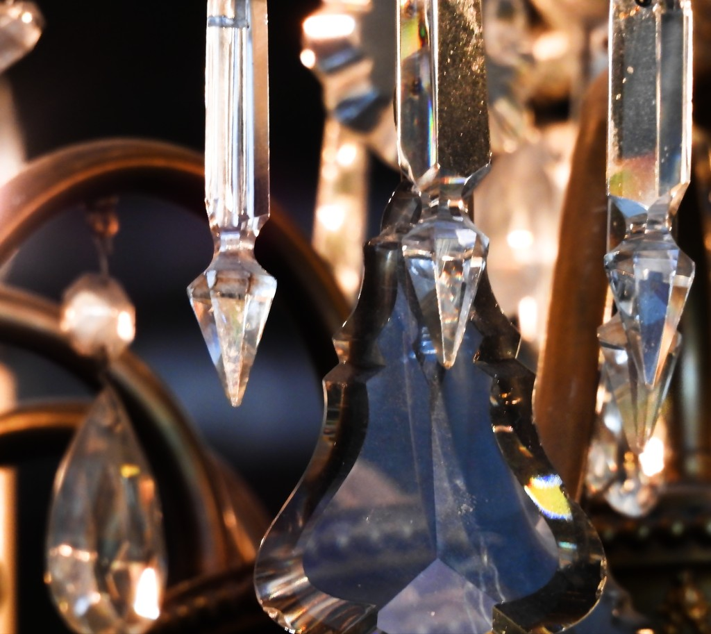 Close-up of Crystal Chandelier by janeandcharlie