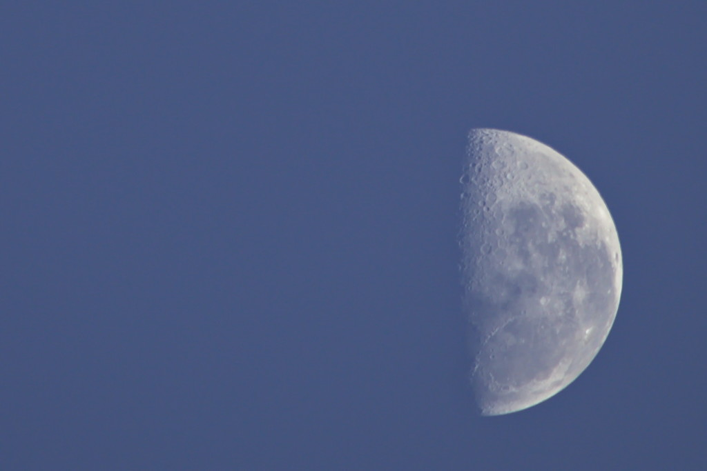 Morning Moon ~ 6.55am by kgolab