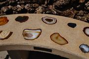 16th Mar 2020 - Bench with crystal  cut rocks