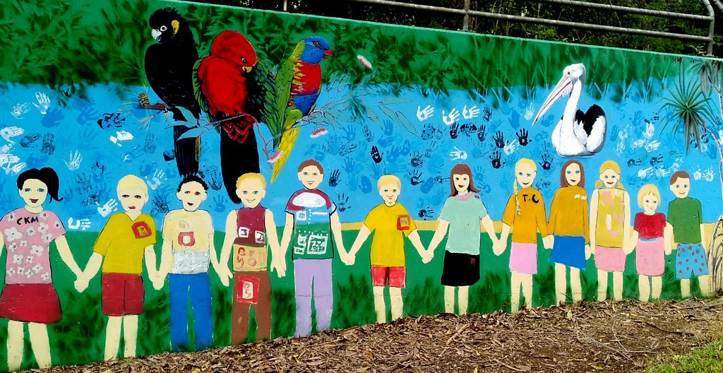 School children joining together to protect the enviroment by 777margo