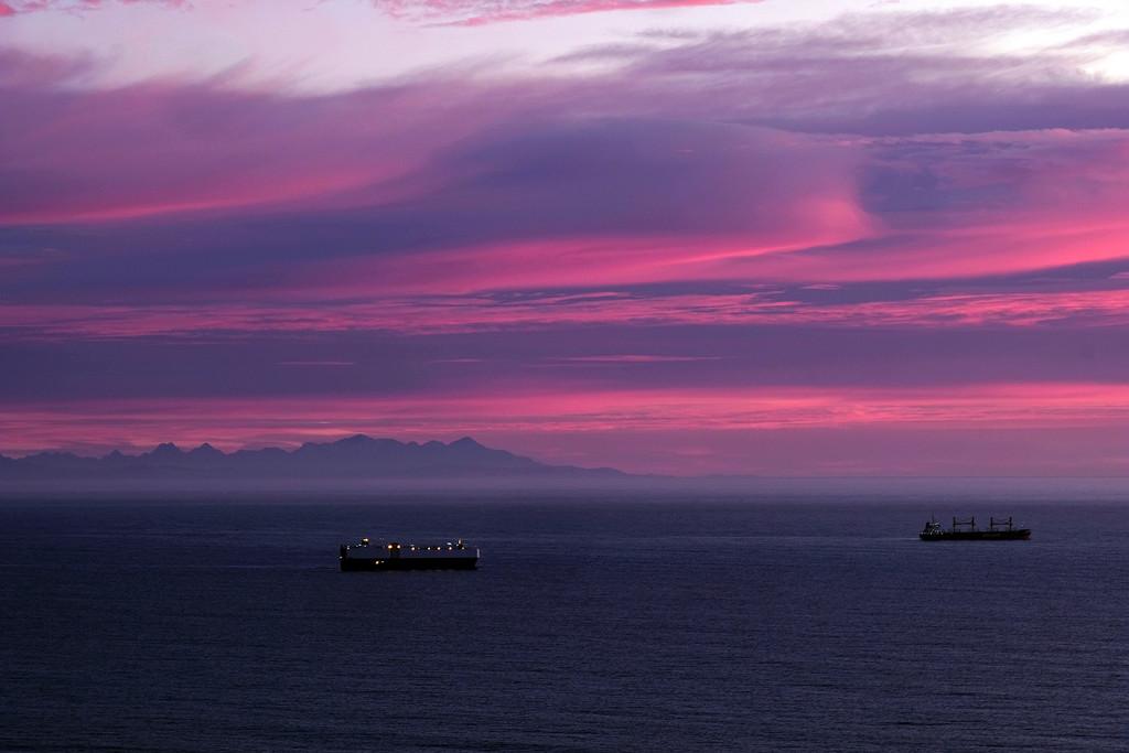 Sunrise from Godley Head Christchurch NZ by maureenpp