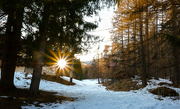 19th Mar 2020 - sunset on the last snow