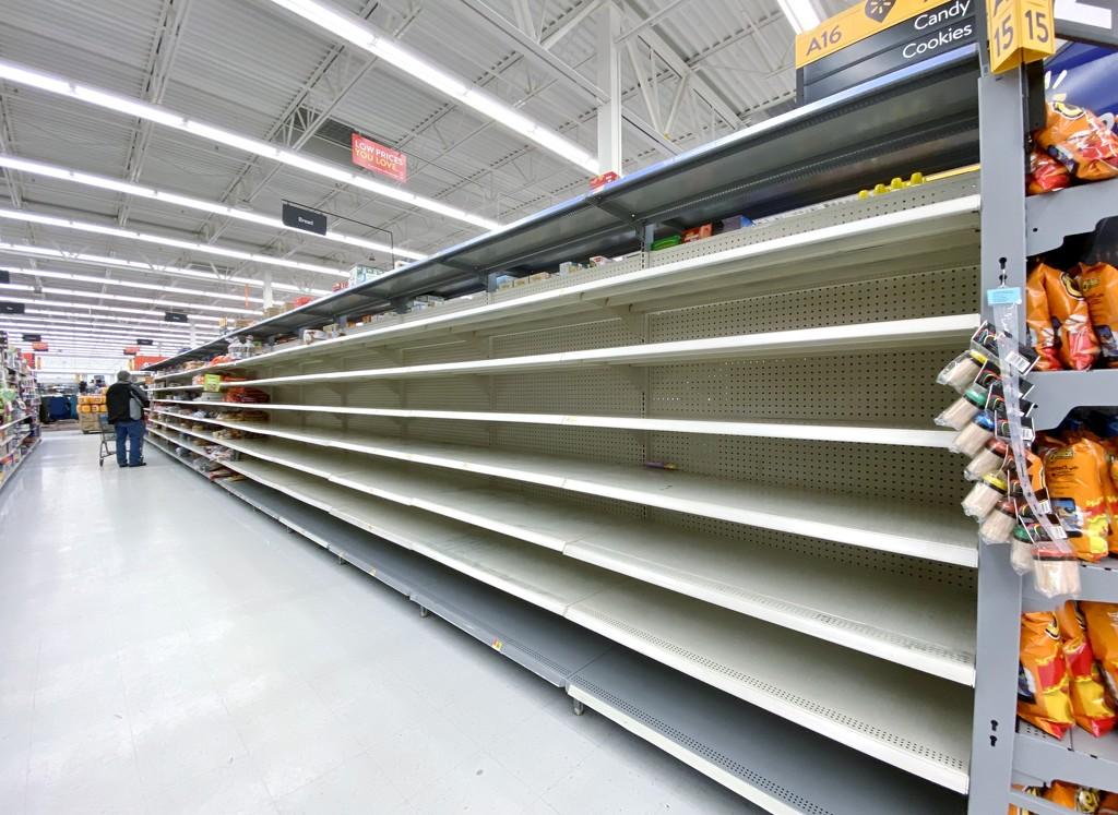 Walmart Bread Aisle by lynnz