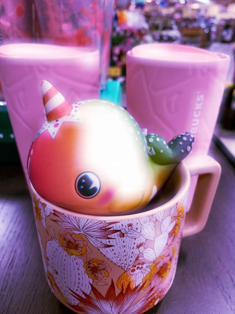 Starbucks pink  by louannwarren