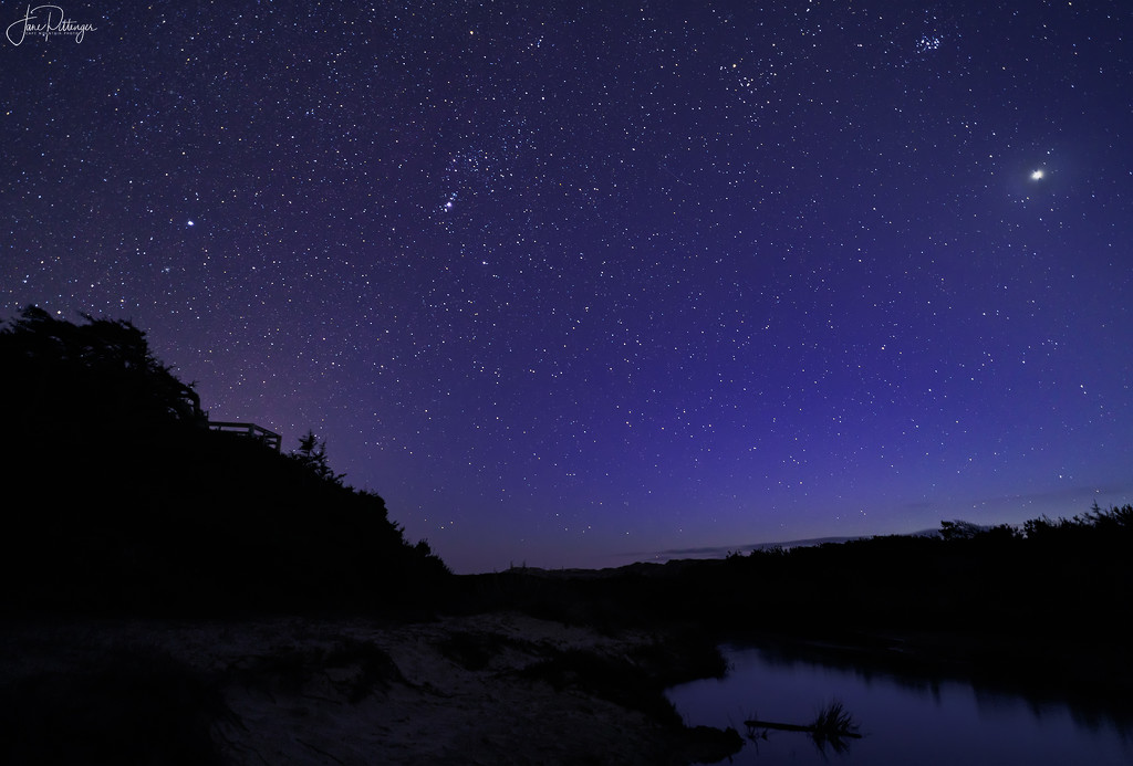 Venus and Stars At Holman Overlook by jgpittenger