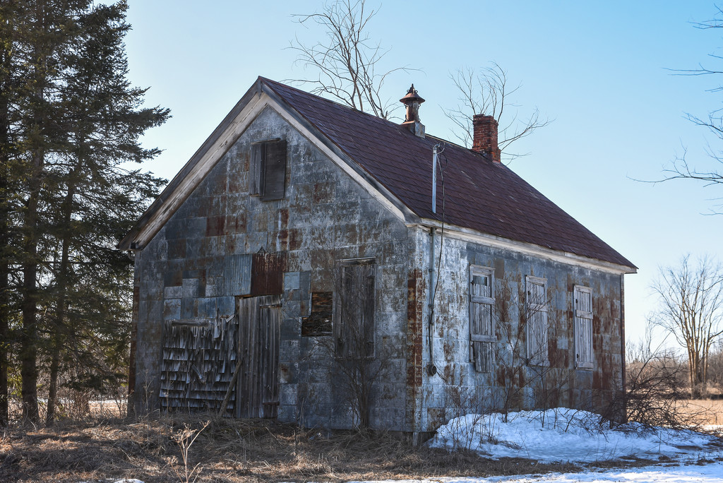 An Old Schoolhouse (I think) by farmreporter