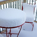 Snow Covered Bistro Set