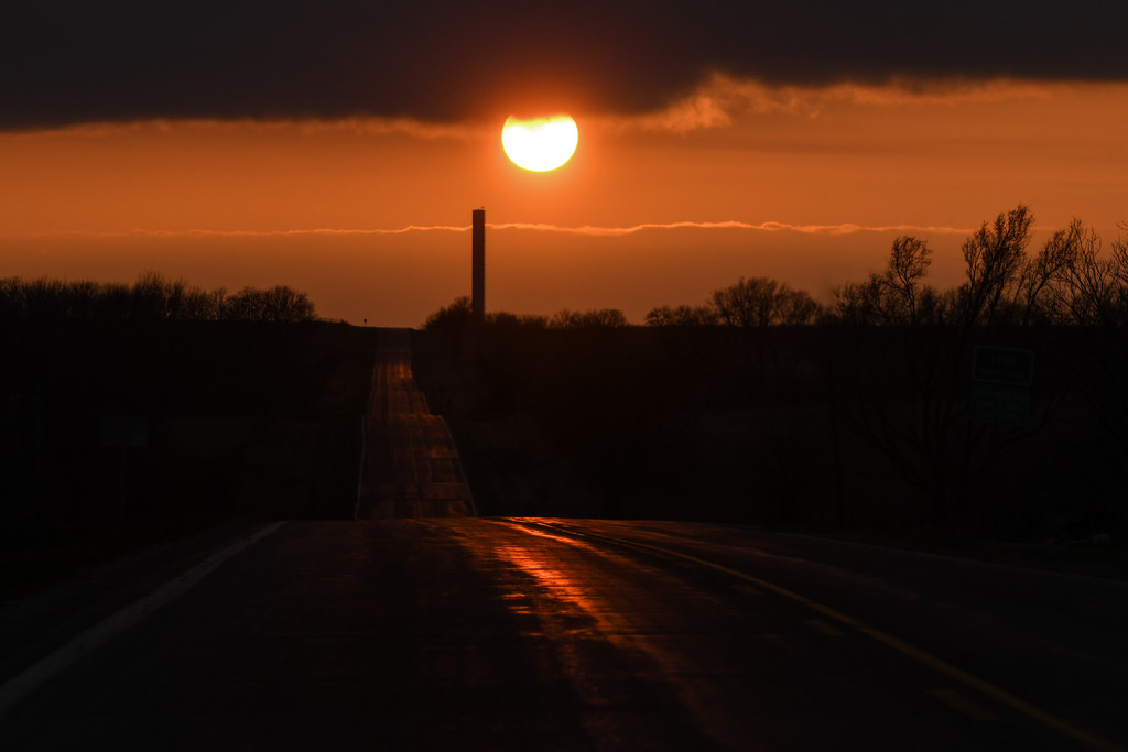 Lonely Road at Sunset by kareenking