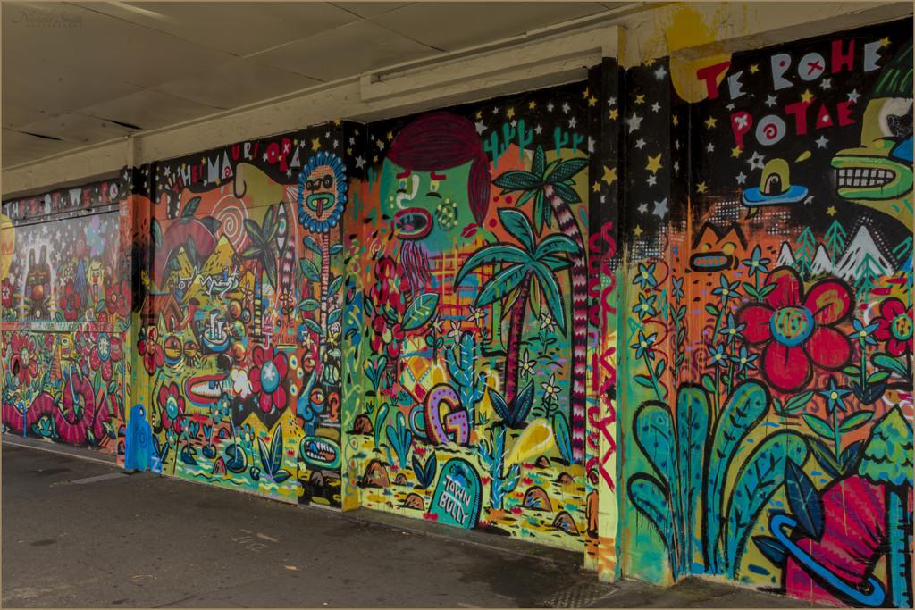 Rainbow Coloured Graffiti by nickspicsnz