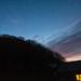Moon and Venus at sunset