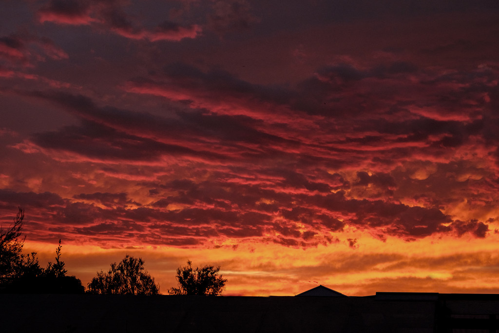 Red sky in the morning … by golftragic