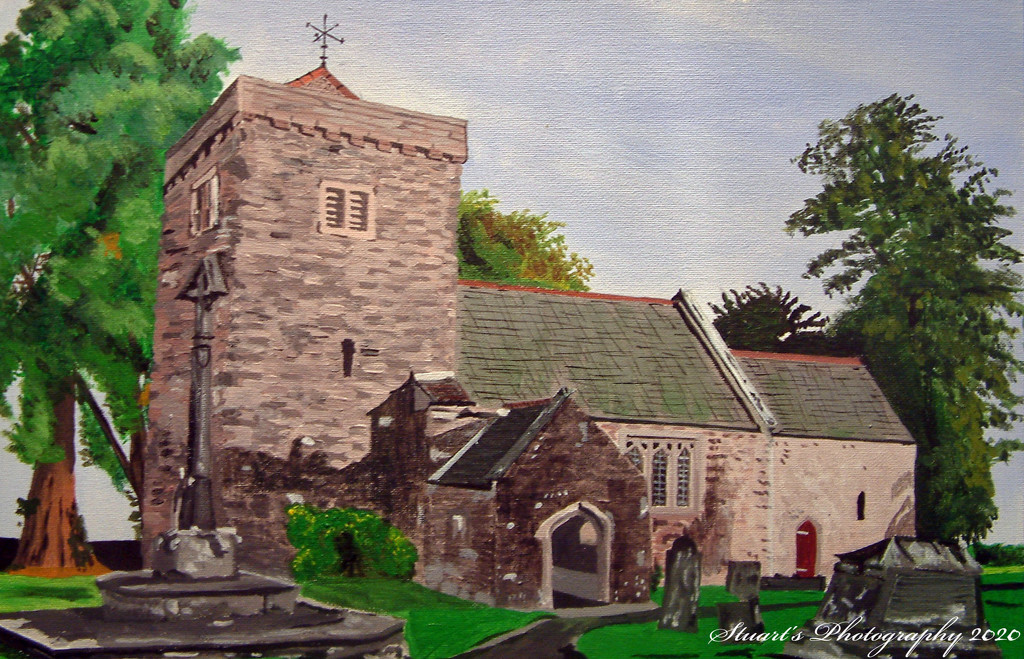 Village Church (painting) by stuart46