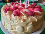 31st Mar 2020 - White chocolate and raspberry cake