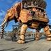 Wooden elephant.