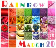 31st Mar 2020 - Rainbow Calendar