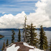 Portrait View of Crater Lake