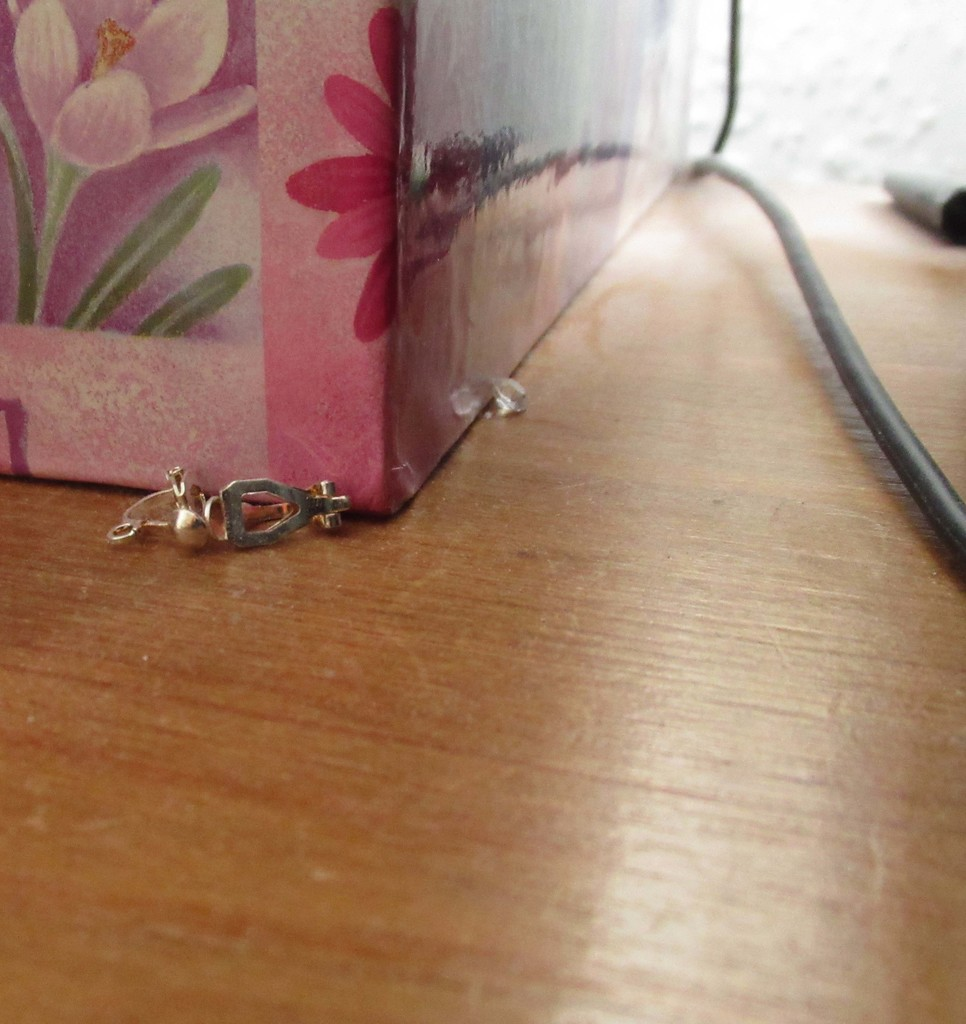 earring findings and a diamond by anniesue