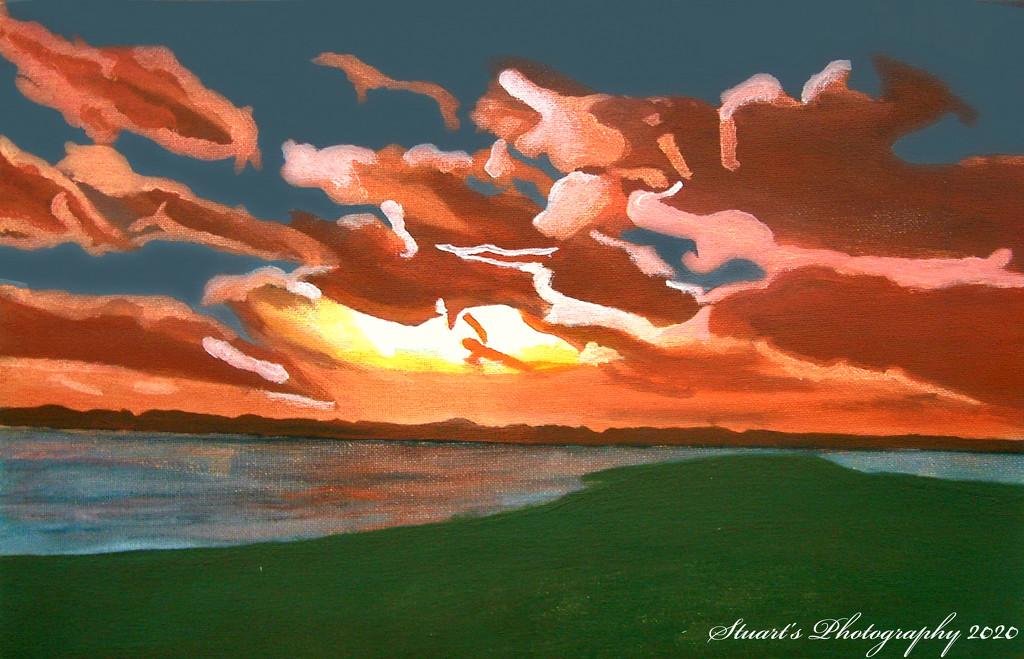 Sunset (painting) by stuart46