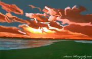 5th Apr 2020 - Sunset (painting)