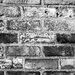 An old brick wall in black and white