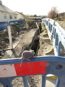 6th Apr 2020 - Pauley inspects the trench