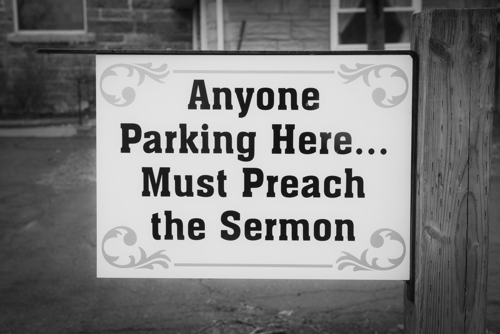 Church Parking Rules by farmreporter