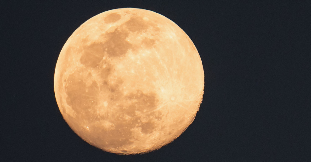Tonight's Almost Full Moon! by rickster549