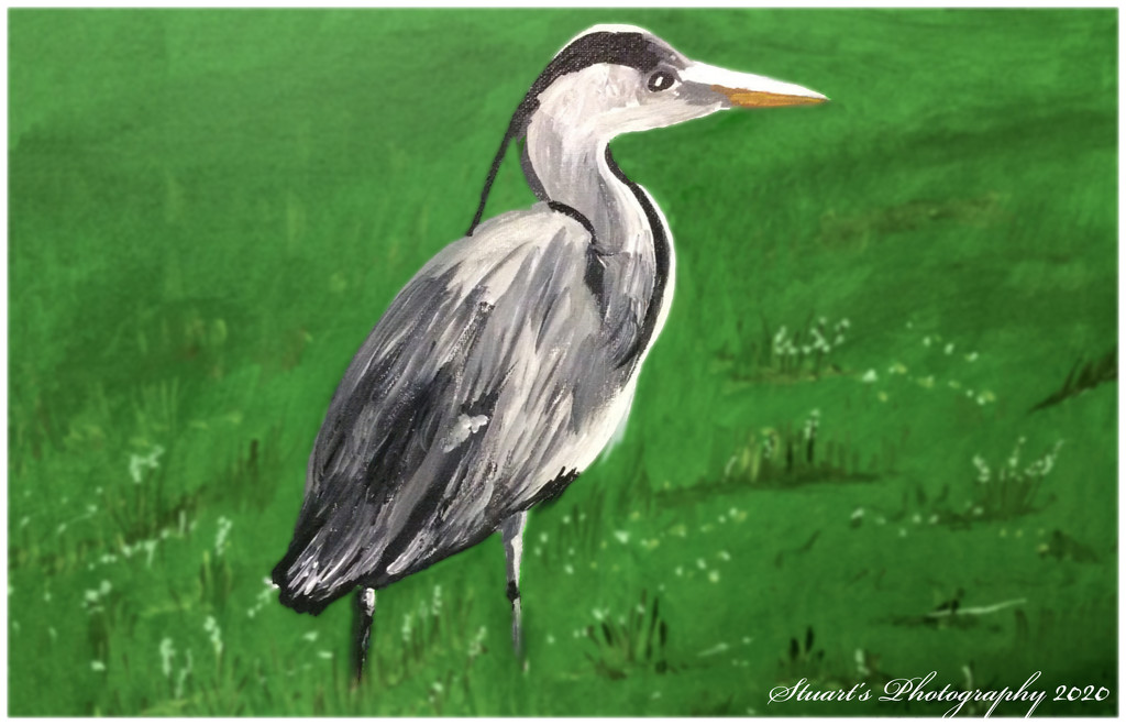 Heron (painting) by stuart46
