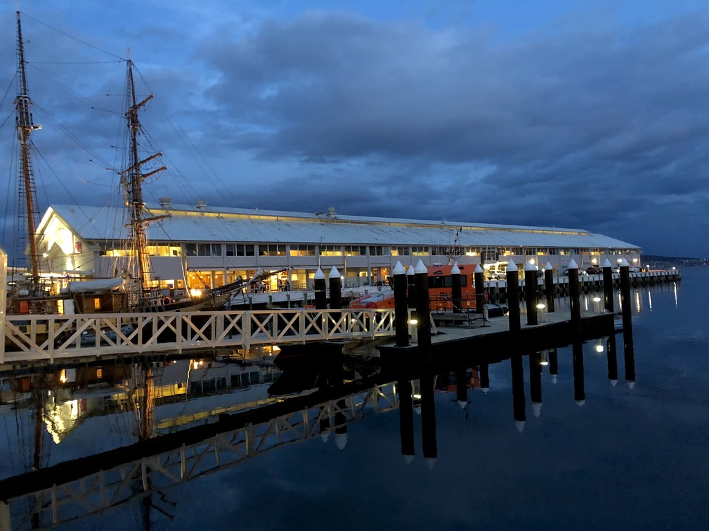Dockside in Hobart city by pictureme