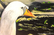 19th Apr 2020 - Swans head and neck (painting)