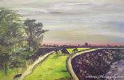 23rd Apr 2020 - The Seawall Goldcliff (painting)