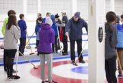25th Feb 2020 - Curling with the Quebec Exchange Students