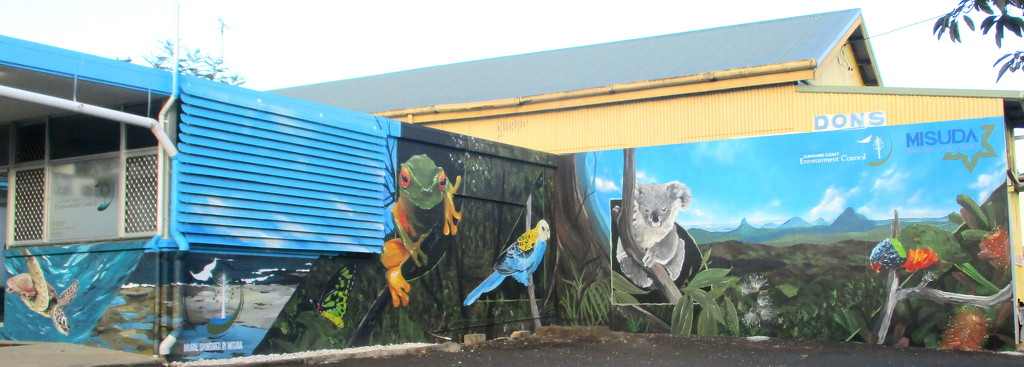 Wall Art in my home town in a car park where no one sees it by 777margo