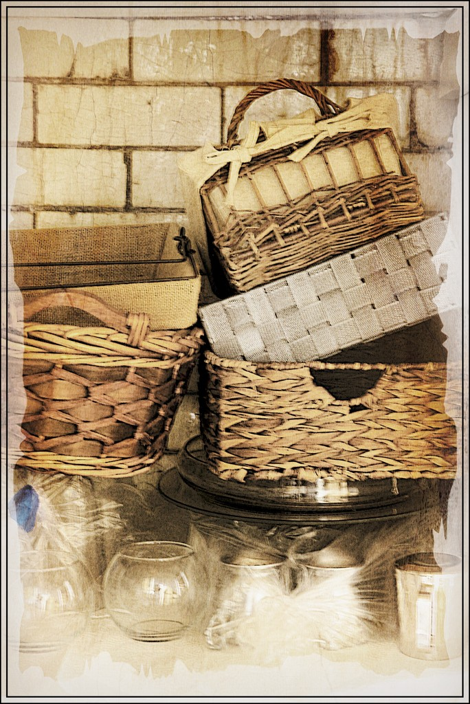 A Stack of Old Baskets by olivetreeann