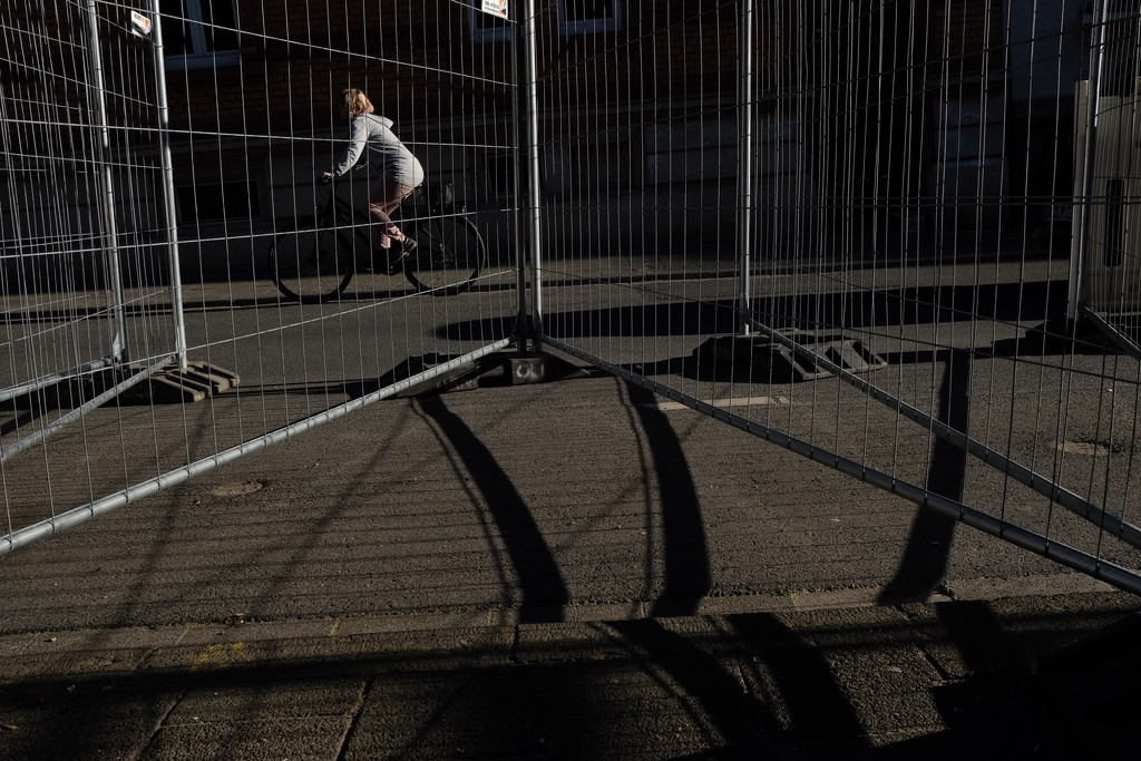 Biker and barriers by vincent24