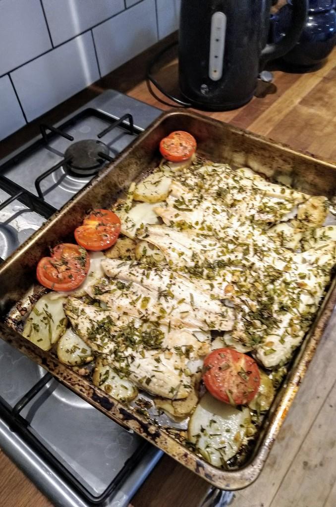Catalan sea bass tray bake by boxplayer