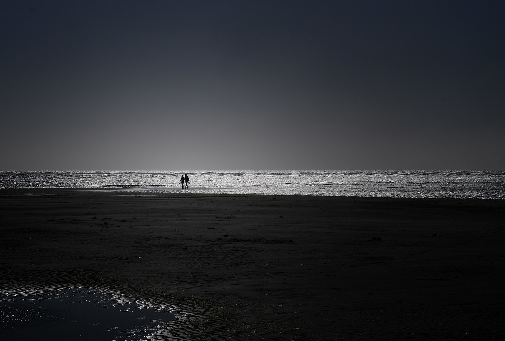 Social distancing at low tide by maureenpp