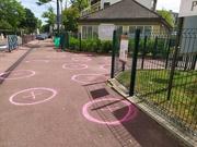 8th May 2020 - V-E day walk Social distancing for the kiddos