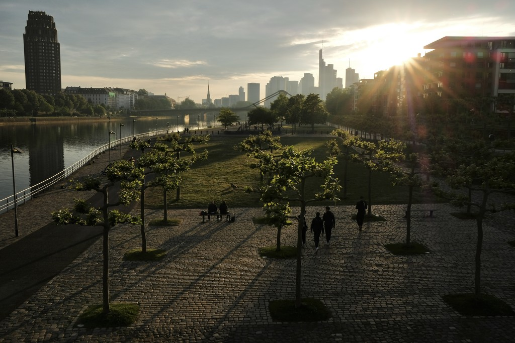 Frankfurt sunset by vincent24