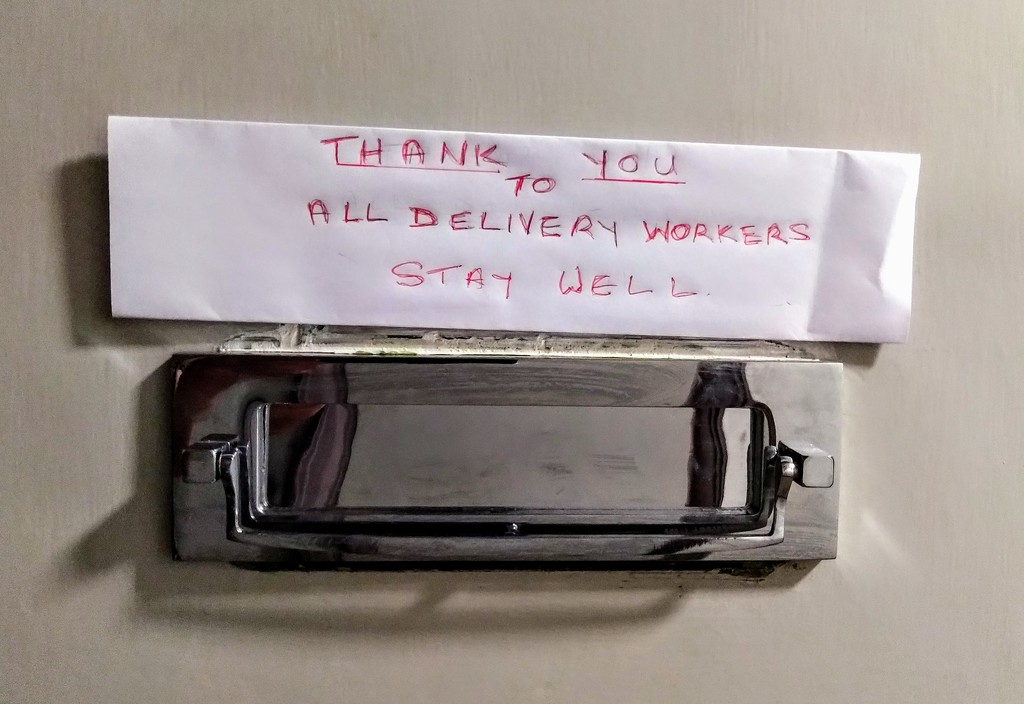 Thank you to all delivery workers by boxplayer