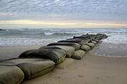 13th May 2020 - Sandbag Barrier at the mouth of the Maroochy River